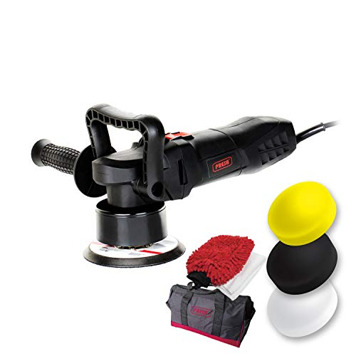 Presa Turbine All-in-One Dual Action DA Random Orbital Polisher Kit with Polishing Pads and Chenille Glove, 6