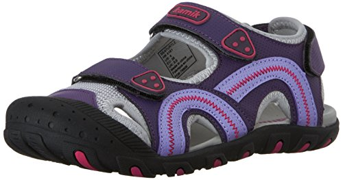 Kamik Sea Turtle Sandal (Toddler/Little Kid/Big Kid), Purple, 13 M US Little Kid (Big Purple Slide)