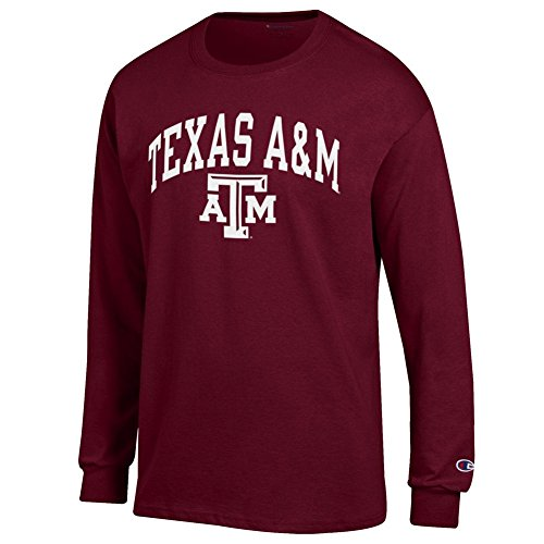 Elite Fan Shop Texas A&M Aggies Long Sleeve Tshirt Varsity Maroon - Large