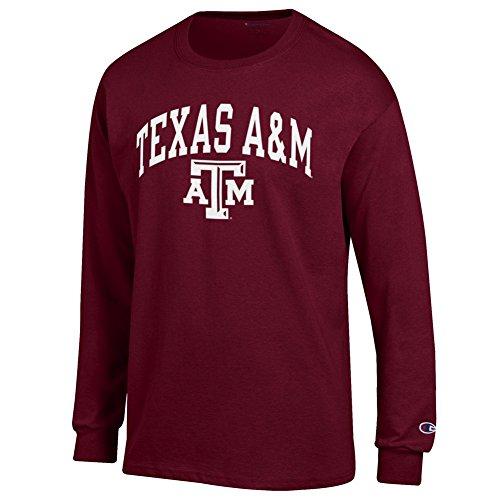 Elite Fan Shop Texas A&M Aggies Long Sleeve Tshirt Varsity Maroon - (Aggies Long Sleeve)