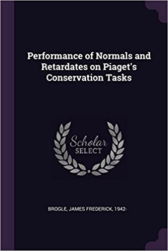 130c22f2111 Performance of Normals and Retardates on Piaget s Conservation Tasks  Paperback – February 19