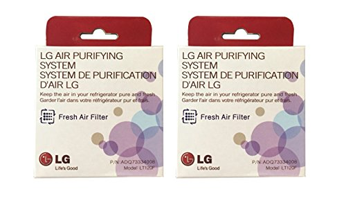 LG LT120F Replacement Fresh Air Filter for Refrigerators, White (2 Filters)