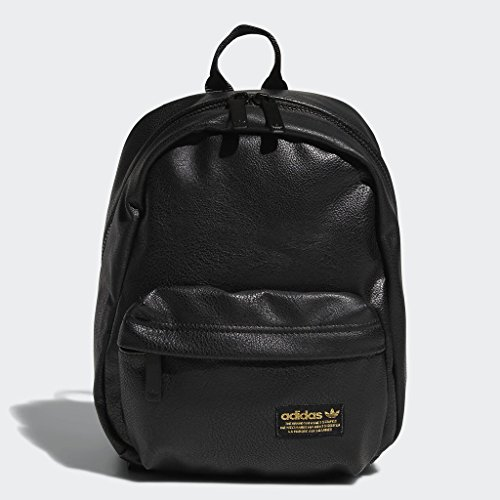 Backpack Premium Leather (adidas Originals National Compact Premium Backpack, Black, One Size)
