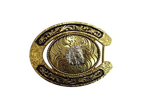 West Star Texas Bright Reflective Eye Catcher Head Turner Shiny Installable Buckle Horse Shoe Design Silver Light Gold