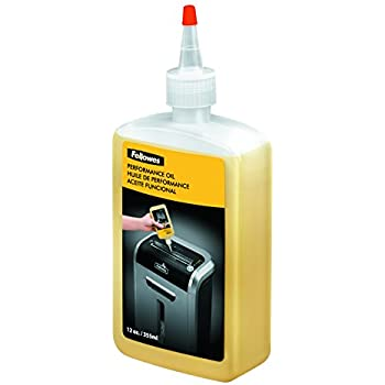 Fellowes 35250 Powershred Performance Oil, 12 oz. Bottle w/Extension Nozzle