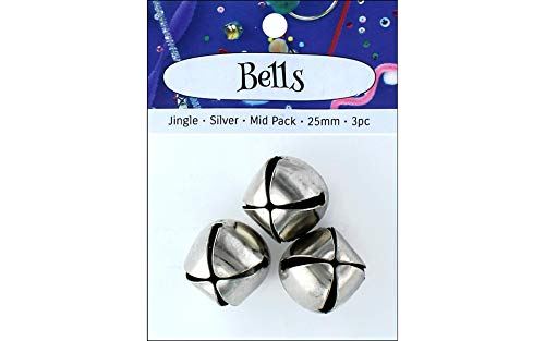 Bell Accent Jingle Design - Accent Design-Basics A/D Jingle Bell Mid Pack 25mm 3pc Silver