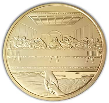 Jesucristo y Leonardo Da Vinci Última Cena Moneda Cristiana: Amazon.es: Hogar