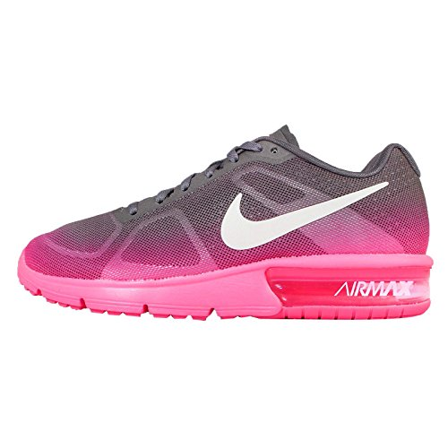 Nike Wmns Air Max Sequent, Zapatillas De Running para Mujer HYPER PINK/WHITE-MTLC DRK GREY