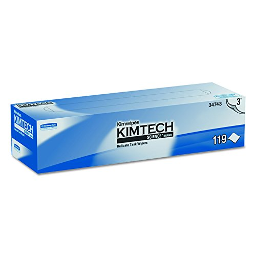 Kimwipes Delicate Task Kimtech Science Wipers (34743), White, 3-PLY, 15 Pop-Up Boxes / Case, 119 Sheets / Box, 1,785 Sheets / Case by Kimberly-Clark Professional