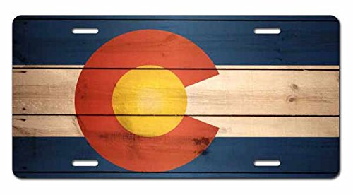 Booth Eddie Colorado Flag US State Wood Art Car Accessories Metal License Plate Tin SAbstract Art Octopus Art Car Accessories Metal License Plate Sign Tag(New) 12