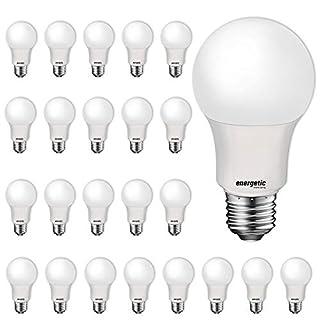 24 Pack LED Light Bulbs, 60 Watt Equivalent A19 LED Bulb, Soft White 2700K, Non-Dimmable, E26 Standard Base, UL Listed, LED Light Bulb