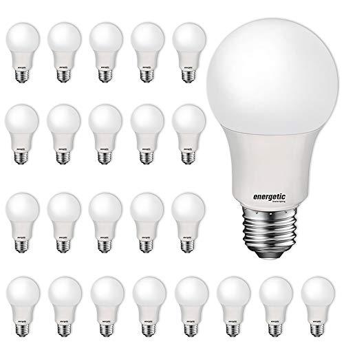 24 Pack LED Light Bulbs, 60 Watt Equivalent A19 LED Bulb, Soft White 2700K, Non-Dimmable, E26 Standard Base, UL Listed…