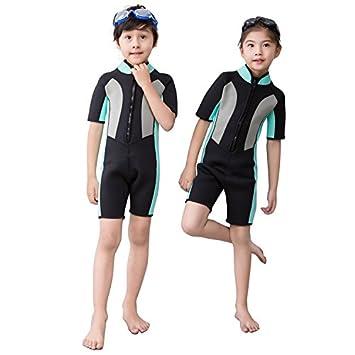 91d98f5cee Nataly Osmann 2.5mm Child Short Sleeve Siamese Wetsuit Surf Clothing  Swimwear Keep Warm for Boys Girls