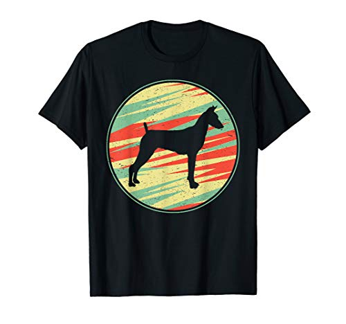 German Pinscher Retro Vintage Silhouette Cute Dog Gift - Pinscher Dogs T-shirt Mens