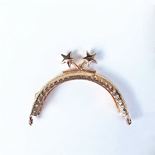 GuoFa 4PCS/Lot 8.5CM Embossing Stars Head Purse Frame Round Handle ...