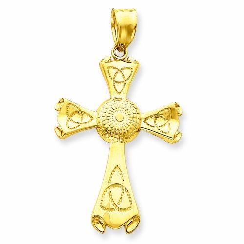 Petits Merveilles D'amour - 10 ct 471/1000 Or Triquetra Croix Celtique Pendentif