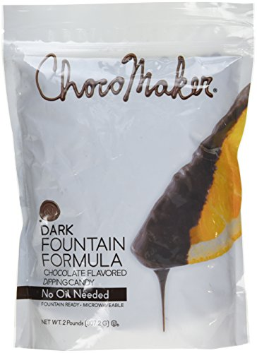 (ChocoMaker Dark Chocolate Flavored Fountain Formula Dipping Candy, 32 Oz (2 lbs Bag))
