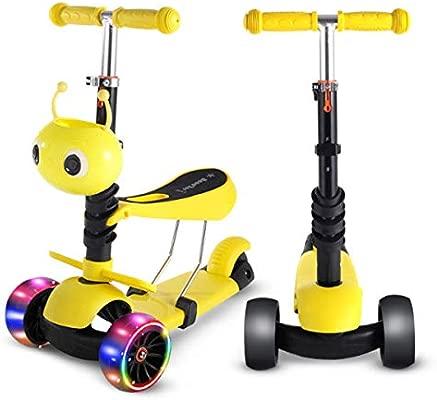 YAOZEDI-ChildrenScooter Scooter Tres en uno, Deslizador Plegable y ...