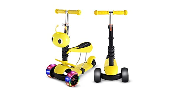YAOZEDI-ChildrenScooter Scooter Tres en uno, Deslizador ...