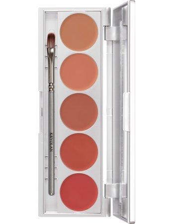 - Kryolan 1215 Lip Rouge Set 5 Colors Makeup Palette NUDE
