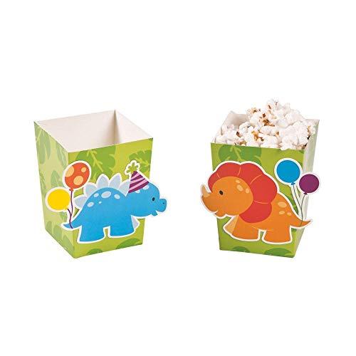 Little Dinosaur Popcorn Boxes. (24 pcs) Size: 4