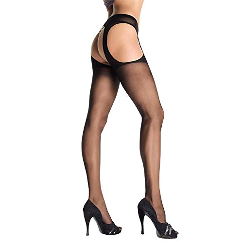 JenniWears® Women's Sexy Crotchless Suspender Pantyhose Stockings