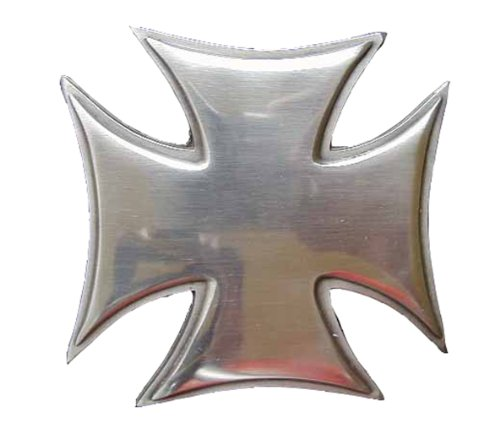 (Large Buff Shine Iron Cross Novelty Belt Buckle)