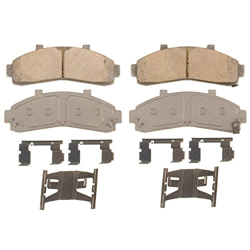 Wagner ThermoQuiet QC652 Ceramic Disc Pad Set With Installation Hardware, Front (Brake Pad B3000)