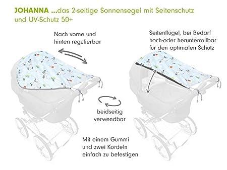 Design:Piraten Priebes Sonnensegel Johanna UV Schutz 50+ Universal Sonnenschutz Sonnendach mit Seitenschutz Sonnensegel f/ür Kinderwagen /& Buggy