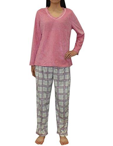 2-pcs-set-liz-claiborne-womens-gorgeous-polar-fleece-pajama-top-pants-set-xl-multicolor