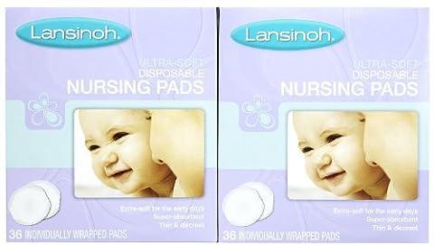 Lansinoh Nursing Pads - Ultra Soft - 36 ct - 2 pk - Lansinoh Disposable Breast Pads