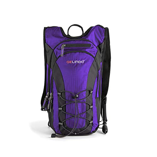 Gelindo Half Day Hiking Hydration Backpack with 2L BPA Free Water Bladder, Lightweight Insulated Compartment Prefect Outdoor Gear for Hiking Camping Daypack to Beginner 10L