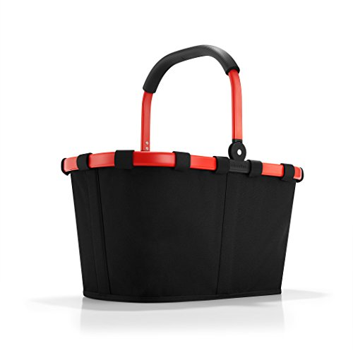 reisenthel Carrybag Fabric Picnic Tote, Black with Red Frame