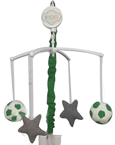 Bacati Soccer Musical Mobile, Green/Grey