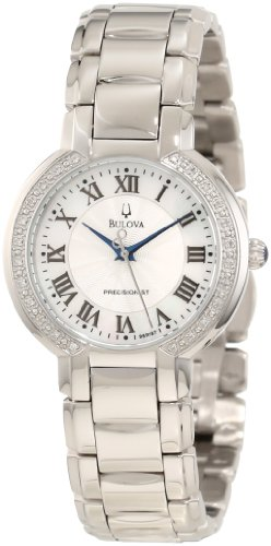 - Bulova Women's 96R167 FAIRLAWN Diamond Bezel Watch
