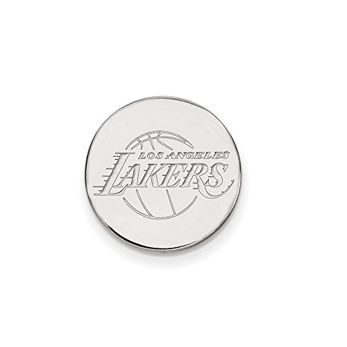 NBA Los Angeles Lakers Lapel Pin in 14K White Gold by LogoArt