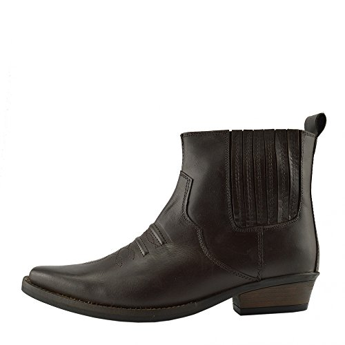 Occidentale Boots Footwear Cubano Cowboy Caviglia 47 Mens Smart EU40 Tirare Marrone Tacco Kick FqSIz
