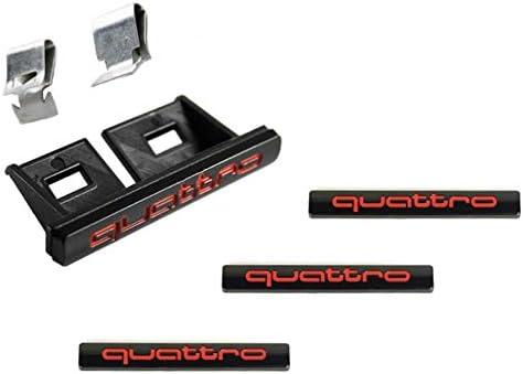 Insigne Quattro en Noir et Rouge. BlackMammoths Pack dembl/èmes Quattro Sports pour radiateur