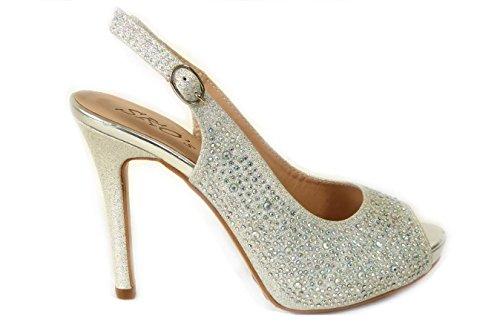828 SKO'S femme 4 Sandales Silver pour IqwCBRq4