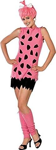 UHC Teen Girl's Tv Characters The Flintstones Pebbles Halloween Costume, Teen XS (4-6) - Flintstone Mask