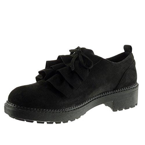 Mode Chaussure Plateforme Noeud Angkorly Cm Richelieu Haut Femme Noir 4 Bloc Talon qwt55A