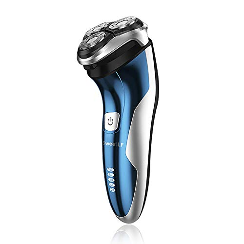 SweetLF Electric Shaver Rotary Shaver for Men Wet Dry Waterproof 2 in 1 Beard Trimmer Cordless Electric Razor USB Quick Rechargeable Shaving Razor for Men