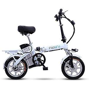 41FTrBkBwEL. SS300 Bicicletta elettrica Pieghevole, Bici elettrica da 14 Pollici in Alluminio per Bici elettrica per Adulti con Batteria al…