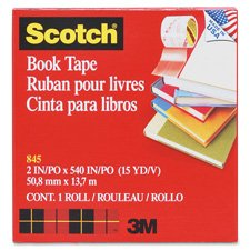 Book Tape, 3'' Core Size, 3'' x 15 Yards, Clear Qty:12
