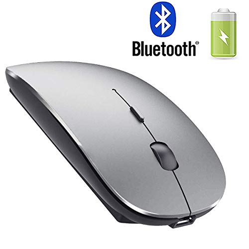 Rechargeable Bluetooth Mouse for Laptop Bluetooth Mouse for MacBook pro Air OS Windows Laptop MacBook Mac Gray ()
