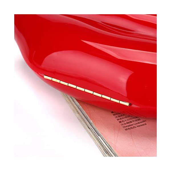 Women Lip Purses Evening Clutch Leather Lips-shaped Crossbody Bags Vintage Banquet Handbag, Red, One Size