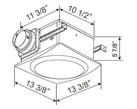 Aero Pure Ap90 S G6 W Slim Fit Super Quiet 90 Cfm Bathroom