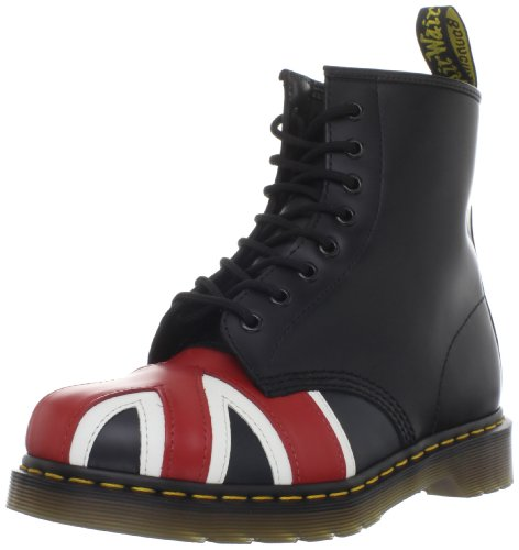 Dr. Martens 1460 Originals Union Jack 8 Eye Lace Up Boot,Black Smooth Leather,15 UK (16 M US Mens / 17 M US Womens)