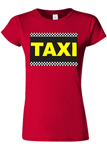 記述する生まれ成り立つTaxi Cab Funny Novelty Cherry Red Women T Shirt Top-XXL