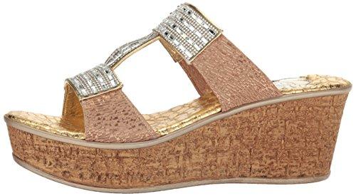 Love & Liberty Women's Sai-Ll Wedge Sandal, Gold, 6 M US by Love & Liberty (Image #5)